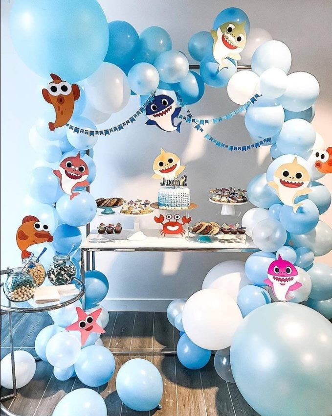 ideias decoracao festa baby shark 2