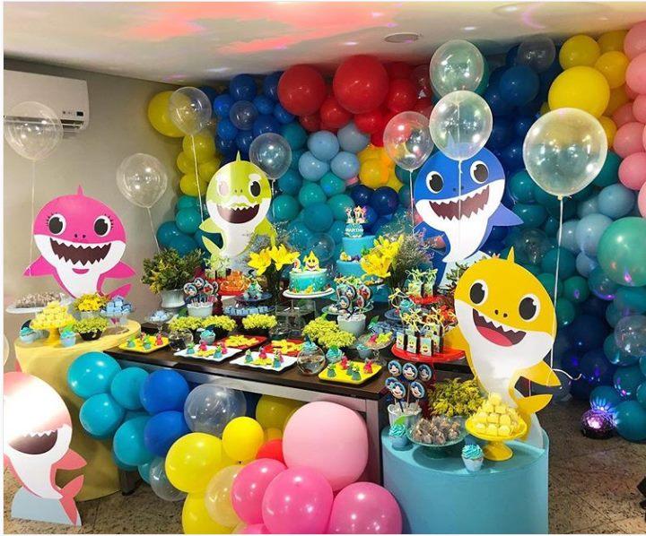 ideias decoracao festa baby shark 3