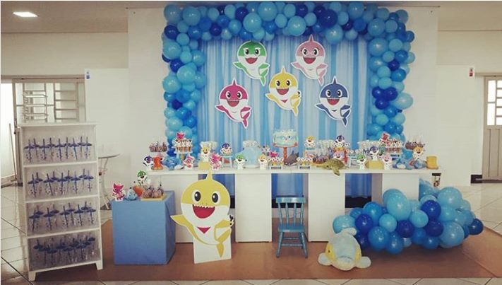 ideias decoracao festa baby shark 4
