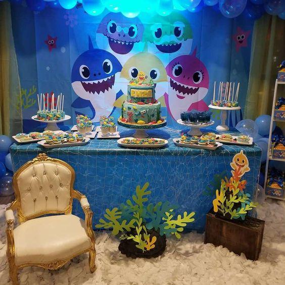 ideias decoracao festa baby shark 5