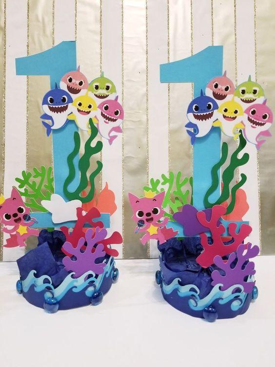 ideias decoracao festa baby shark 7