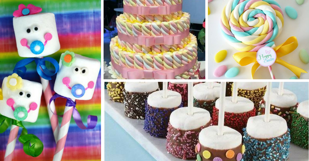 Ideias para Decorar Marshmallows para Chá de Bebe