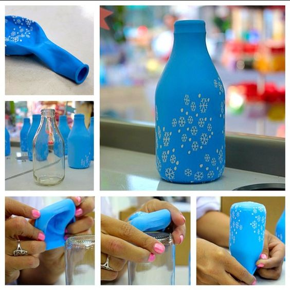 ideias encapar garrafas bexigas 5