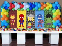 ideias festa menino super herois 2