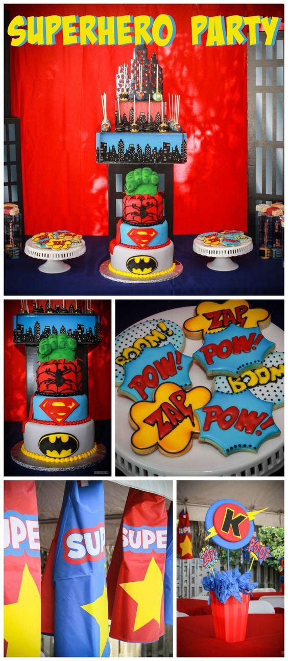 ideias festa menino super herois