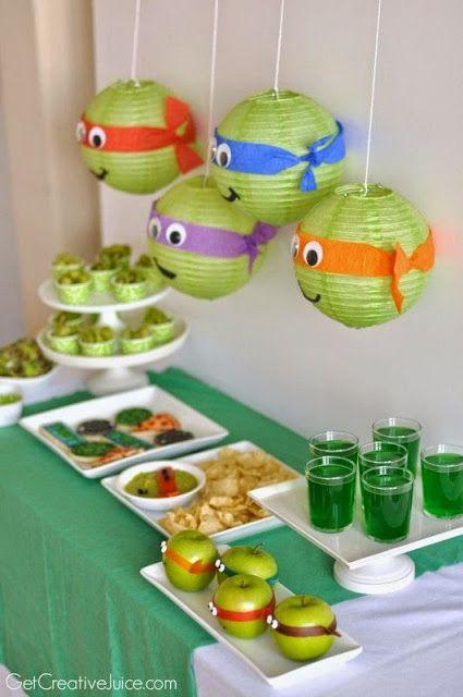 ideias festa tartarugas ninja