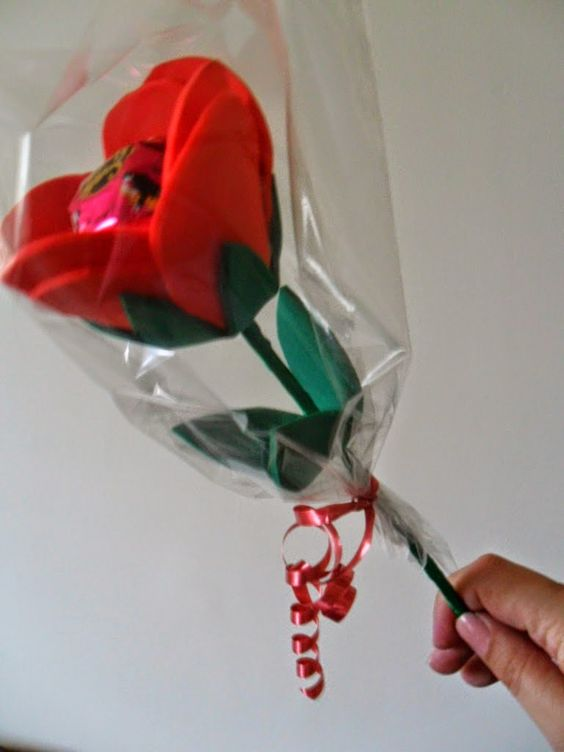 ideias oferecer bombom natal flor