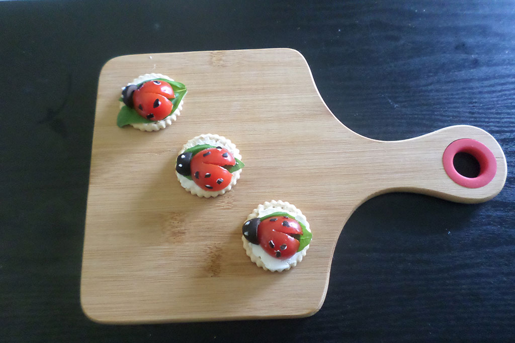 Joaninhas de tomates cherry passo a passo