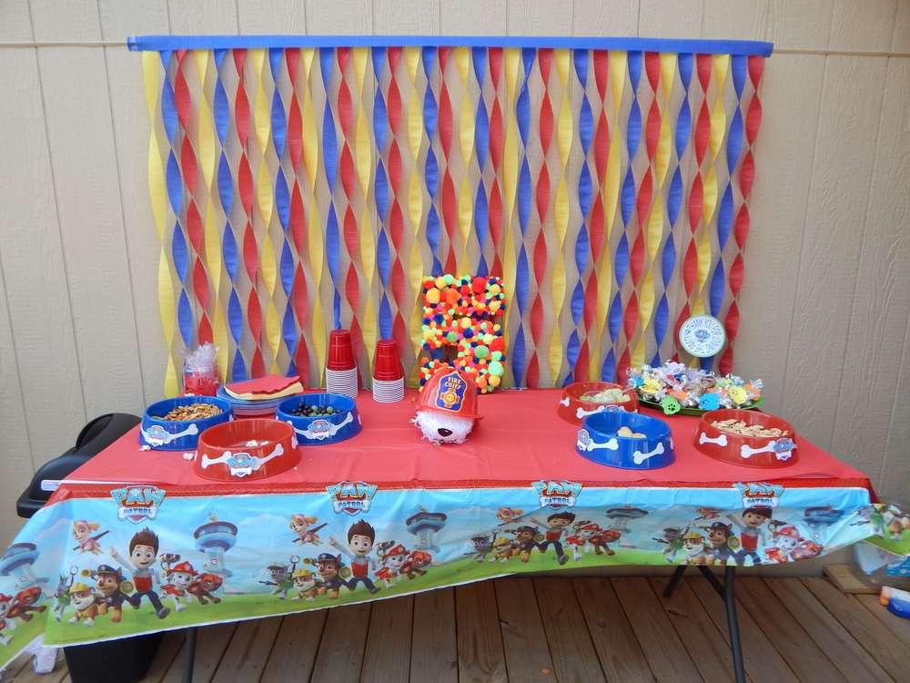 mesa decorada patrulha pata