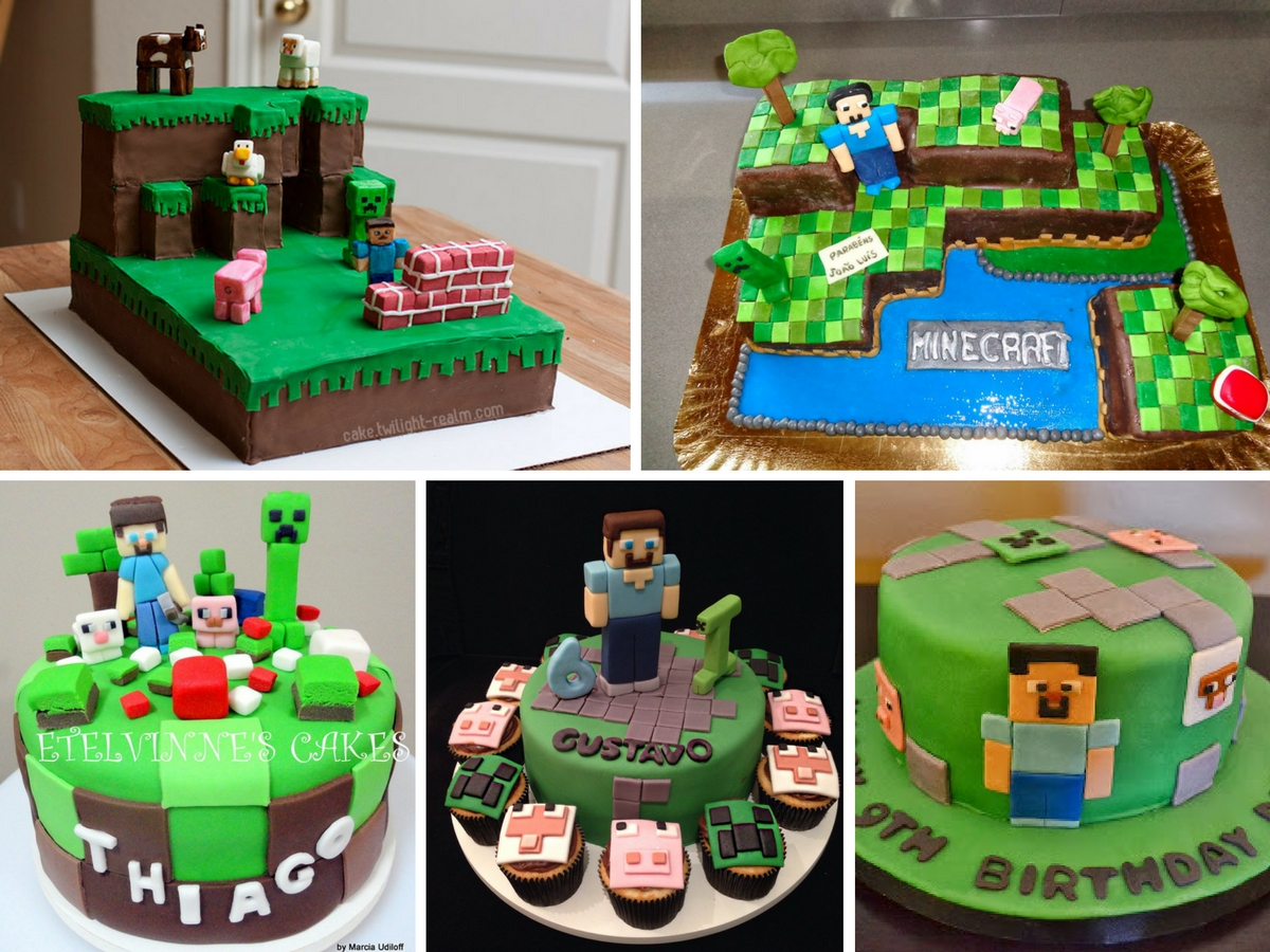 Bolos Decorados Minecraft