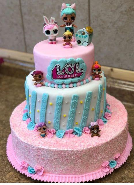 modelos bolos bonecas lol 13