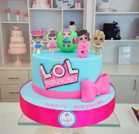 modelos bolos bonecas lol 2