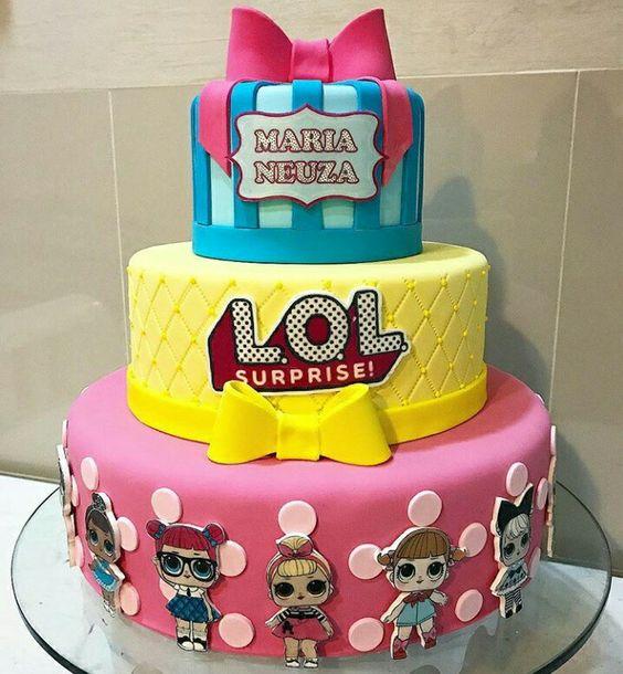 modelos bolos bonecas lol 3