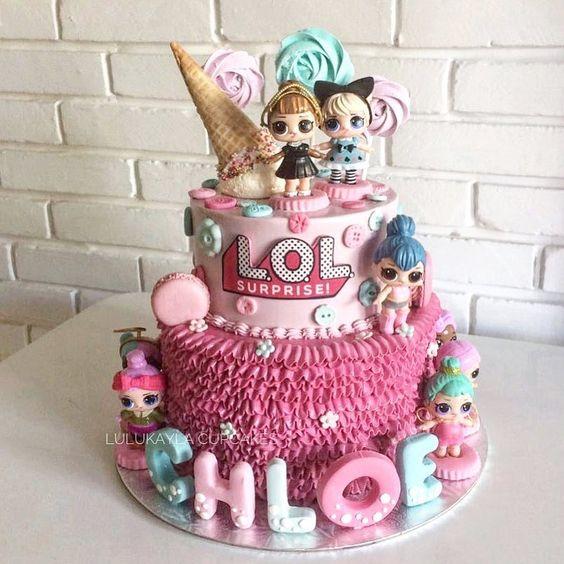 modelos bolos bonecas lol 5