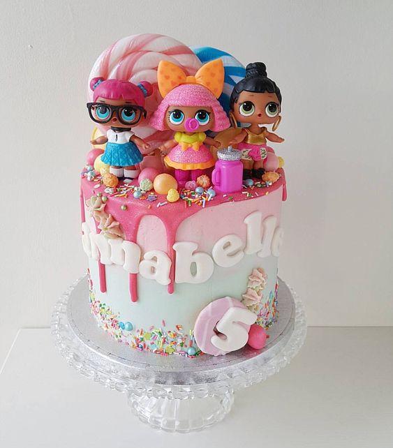 modelos bolos bonecas lol 7