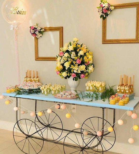 montar mesa doces adulto amarelo