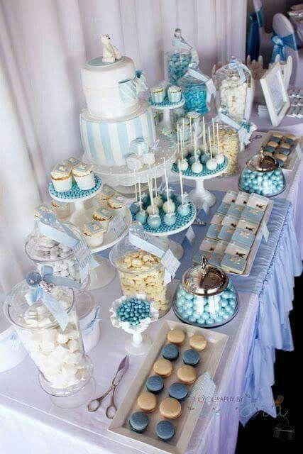 montar mesa doces adulto azul