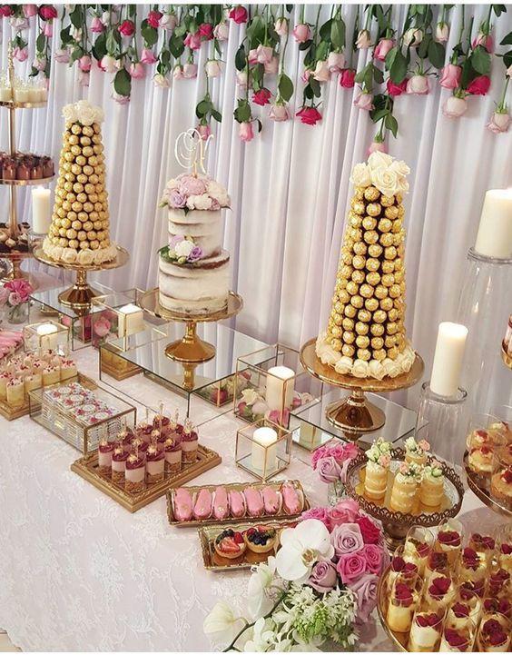 montar mesa doces adulto casamento