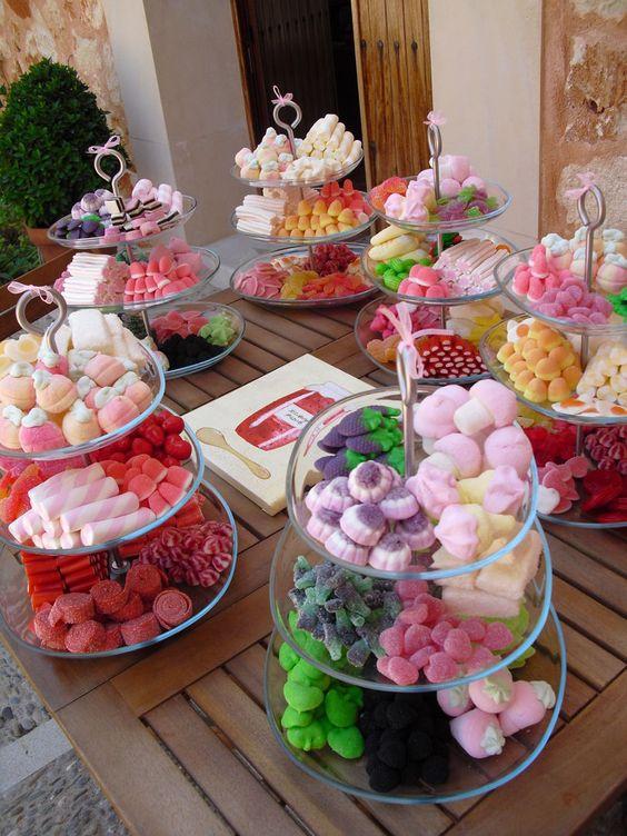 montar mesa doces crianca bandejas