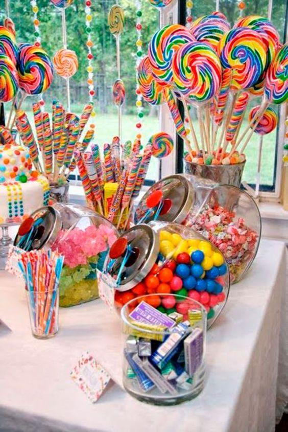 montar mesa doces crianca