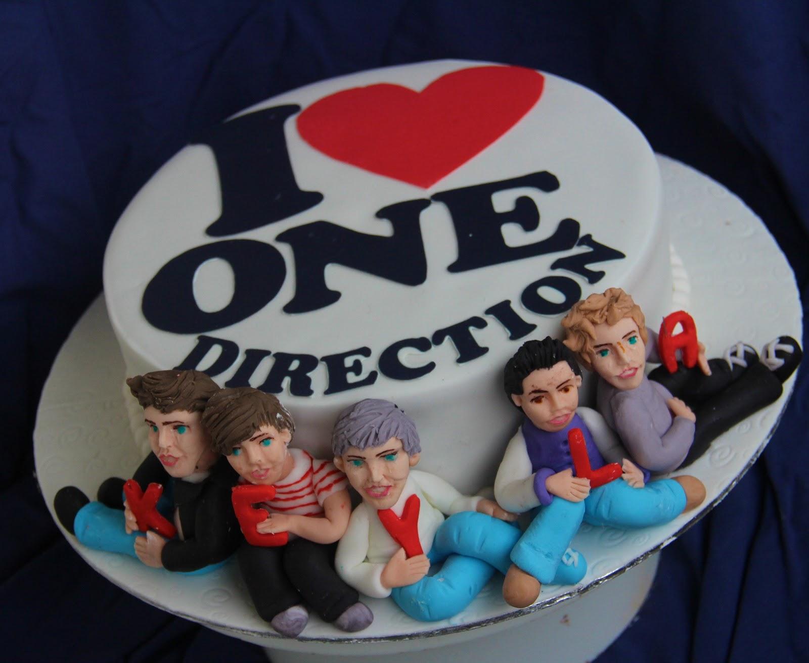 one direction bolos decorados