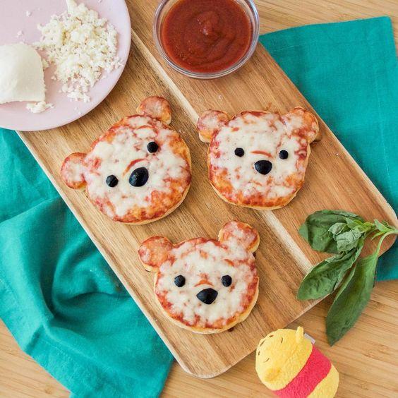 pizza crianca urso