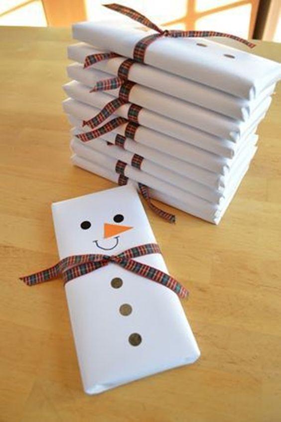 presentes natal comestivel chocolate boneco neve