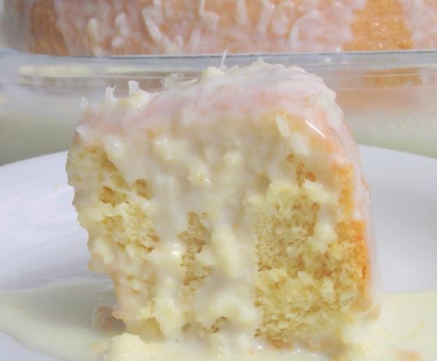 receita de bolo leite coco