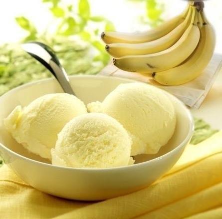 receita gelado de banana congelada