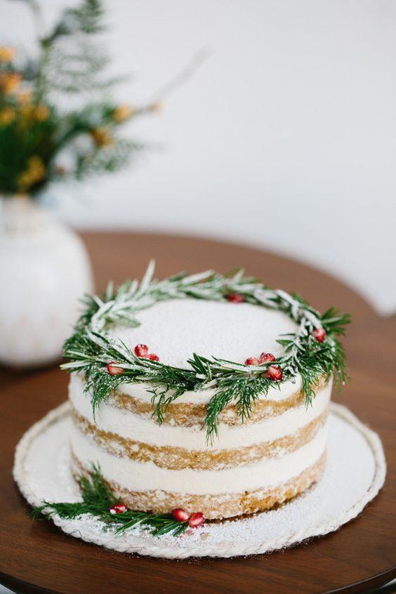 topo bolo natal diy alecrim
