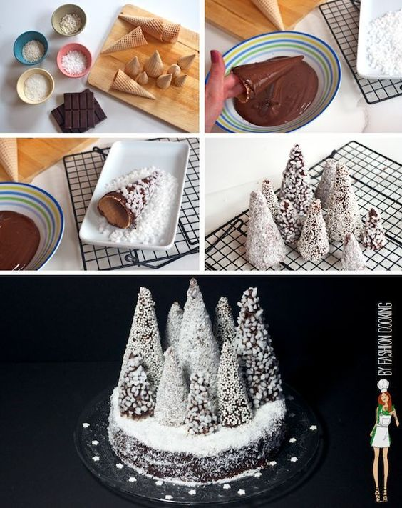 topo bolo natal diy cones