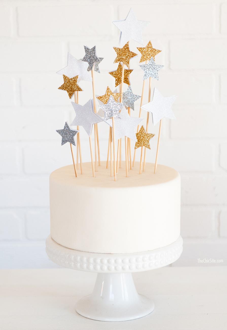 topo bolo natal diy estrelas