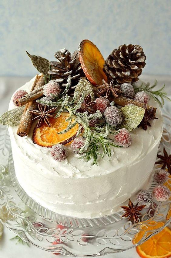 topo bolo natal diy frutas cristalizadas