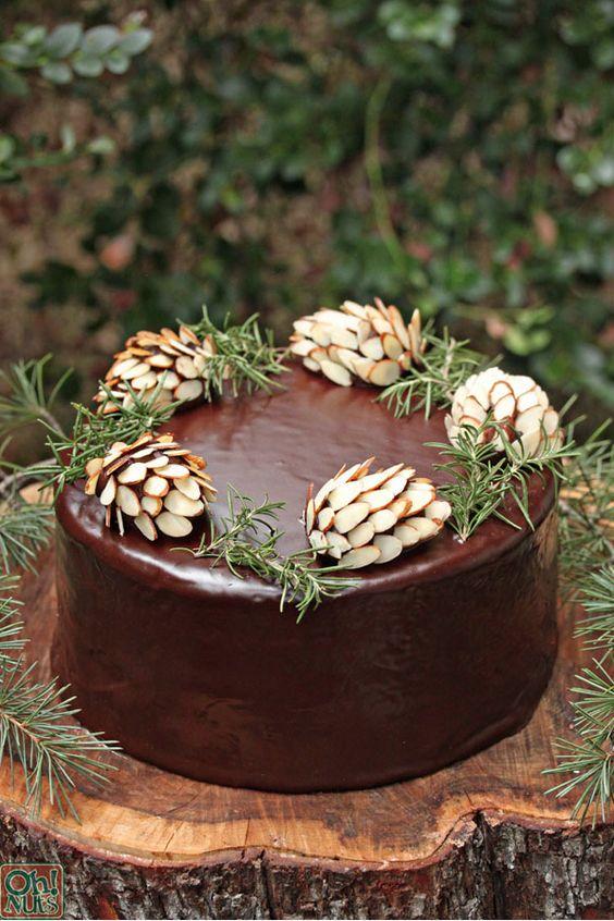 topo bolo natal diy frutos secos