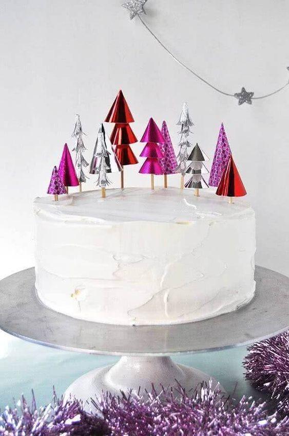 topo bolo natal diy papel