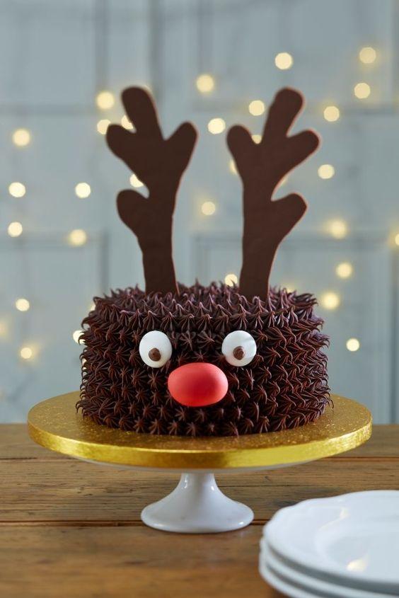 topo bolo natal diy rena